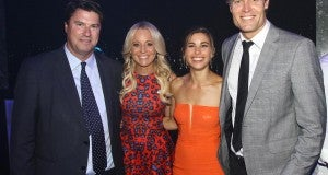 (L-R) Network Ten CEO Hamish McLennan, So You Think You Can Dance Host Carrie Bickmore, Wonderland actress Brooke Satchwell and The Living Room's Dr Chris Brown